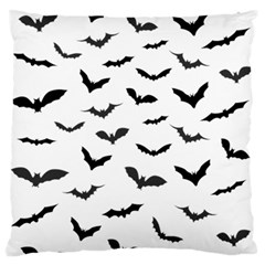Bats Pattern Large Flano Cushion Case (two Sides) by Sobalvarro