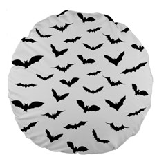 Bats Pattern Large 18  Premium Flano Round Cushions by Sobalvarro