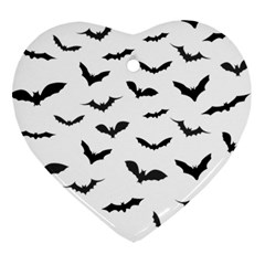 Bats Pattern Heart Ornament (two Sides) by Sobalvarro