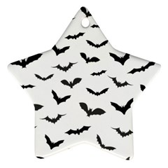 Bats Pattern Star Ornament (two Sides) by Sobalvarro