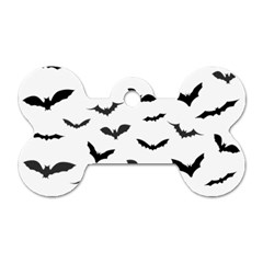 Bats Pattern Dog Tag Bone (one Side) by Sobalvarro