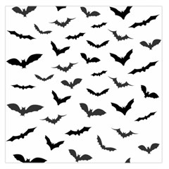 Bats Pattern Large Satin Scarf (square) by Sobalvarro