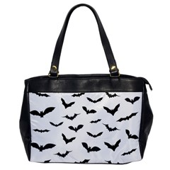 Bats Pattern Oversize Office Handbag by Sobalvarro