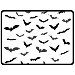 Bats Pattern Fleece Blanket (large)  by Sobalvarro