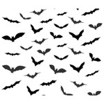 Bats Pattern Deluxe Canvas 14  x 11  (Stretched) 14  x 11  x 1.5  Stretched Canvas