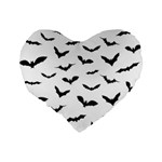 Bats Pattern Standard 16  Premium Heart Shape Cushions Back