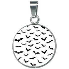 Bats Pattern 20mm Round Necklace