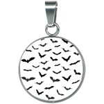Bats Pattern 20mm Round Necklace Front
