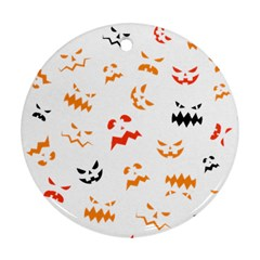 Pumpkin Faces Pattern Ornament (round) by Sobalvarro