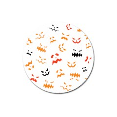 Pumpkin Faces Pattern Magnet 3  (round) by Sobalvarro
