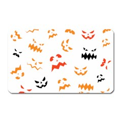 Pumpkin Faces Pattern Magnet (rectangular) by Sobalvarro