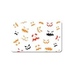 Pumpkin Faces Pattern Magnet (name Card) by Sobalvarro
