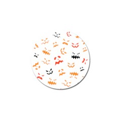 Pumpkin Faces Pattern Golf Ball Marker (4 Pack) by Sobalvarro