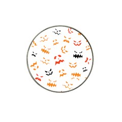 Pumpkin Faces Pattern Hat Clip Ball Marker (4 Pack) by Sobalvarro