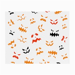 Pumpkin Faces Pattern Small Glasses Cloth by Sobalvarro
