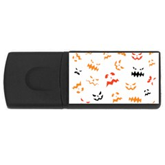 Pumpkin Faces Pattern Rectangular Usb Flash Drive by Sobalvarro