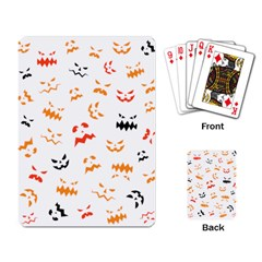 Pumpkin Faces Pattern Playing Cards Single Design (rectangle) by Sobalvarro