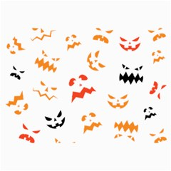 Pumpkin Faces Pattern Canvas 12  X 18  by Sobalvarro