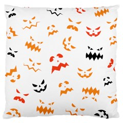 Pumpkin Faces Pattern Large Cushion Case (two Sides)