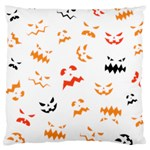 Pumpkin Faces Pattern Large Cushion Case (Two Sides) Front