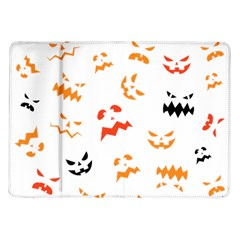 Pumpkin Faces Pattern Samsung Galaxy Tab 10 1  P7500 Flip Case