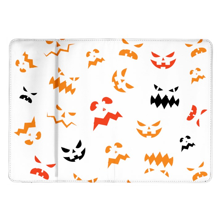 Pumpkin Faces Pattern Samsung Galaxy Tab 10.1  P7500 Flip Case