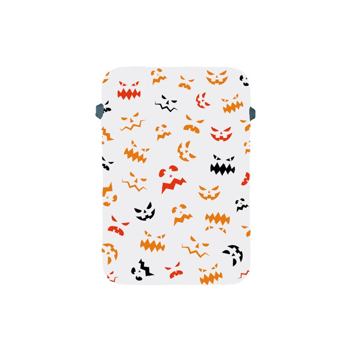 Pumpkin Faces Pattern Apple iPad Mini Protective Soft Cases