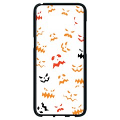 Pumpkin Faces Pattern Samsung Galaxy S8 Black Seamless Case