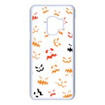 Pumpkin Faces Pattern Samsung Galaxy S9 Seamless Case(White) Front