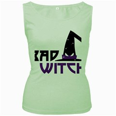 Bad Witch Design Women s Green Tank Top by Sobalvarro