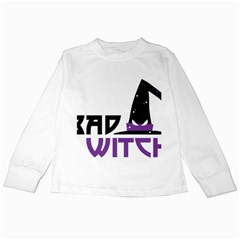 Bad Witch Design Kids Long Sleeve T-shirts by Sobalvarro