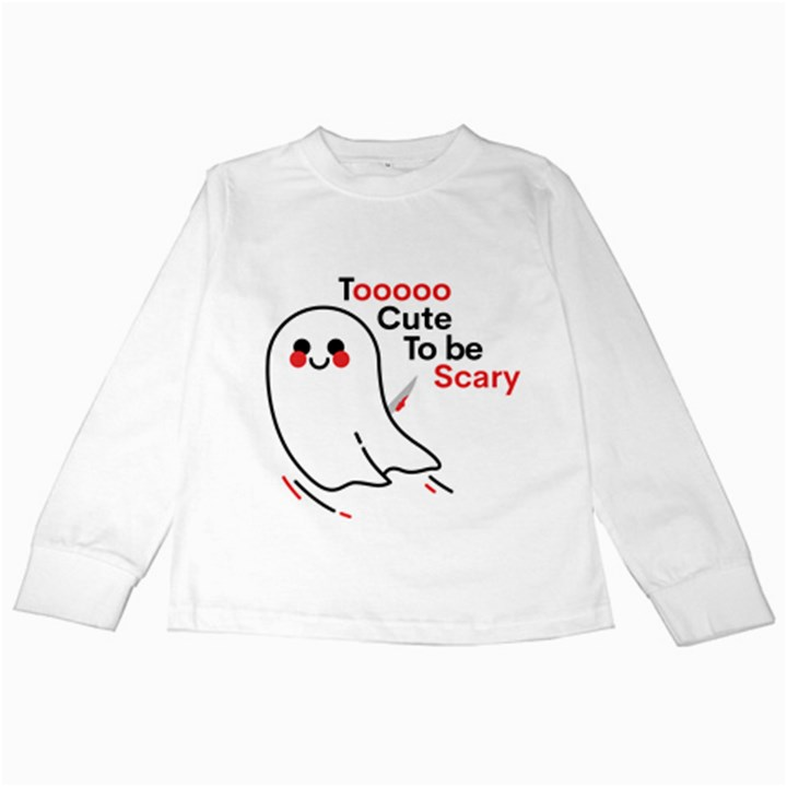 Too Cute To Be Scary Kids Long Sleeve T-Shirt