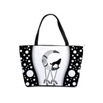 Wonderful Moon With Black Wolf Classic Shoulder Handbag Front