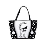 Wonderful Moon With Black Wolf Classic Shoulder Handbag Back