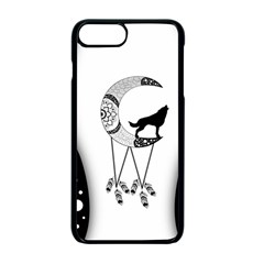Wonderful Moon With Black Wolf Iphone 7 Plus Seamless Case (black) by FantasyWorld7