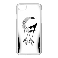 Wonderful Moon With Black Wolf Iphone 7 Seamless Case (white) by FantasyWorld7