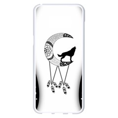 Wonderful Moon With Black Wolf Samsung Galaxy S8 Plus White Seamless Case by FantasyWorld7
