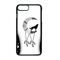 Wonderful Moon With Black Wolf Iphone 8 Plus Seamless Case (black) by FantasyWorld7