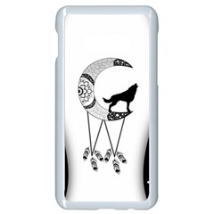 Wonderful Moon With Black Wolf Samsung Galaxy S10e Seamless Case (white) by FantasyWorld7