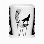 Wonderful Moon With Black Wolf Morph Mugs Center