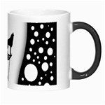 Wonderful Moon With Black Wolf Morph Mugs Right