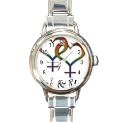 Mrs  And Mrs  Round Italian Charm Watch