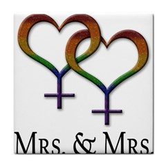 Mrs  And Mrs  Tile Coaster