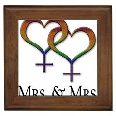 Mrs  And Mrs  Framed Tile by LiveLoudGraphics