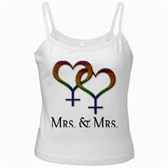 Mrs  And Mrs  White Spaghetti Tank