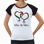 Mrs. and Mrs. Women s Cap Sleeve T Front