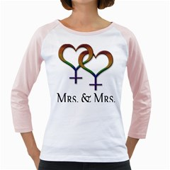 Mrs  And Mrs  Girly Raglan by LiveLoudGraphics