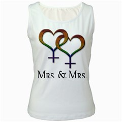 Mrs  And Mrs  Women s White Tank Top