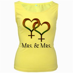 Mrs  And Mrs  Women s Yellow Tank Top by LiveLoudGraphics