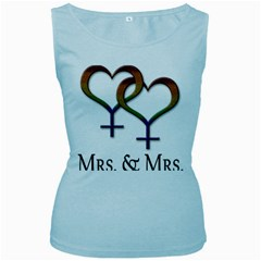 Mrs  And Mrs  Women s Baby Blue Tank Top